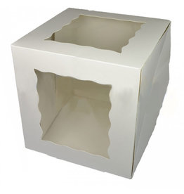 Cake box with 2 windows - 25,5x25,5x25,5 (25 pcs.)