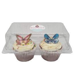 Transparent box for 2 cupcakes (228 pcs.)
