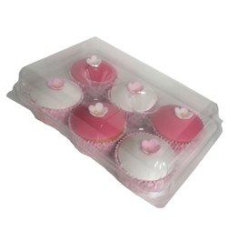 Transparante doos voor 6 cupcakes (240 st.)