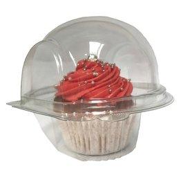 Transparante doos voor 1 cupcake - extra hoog (480 st.)