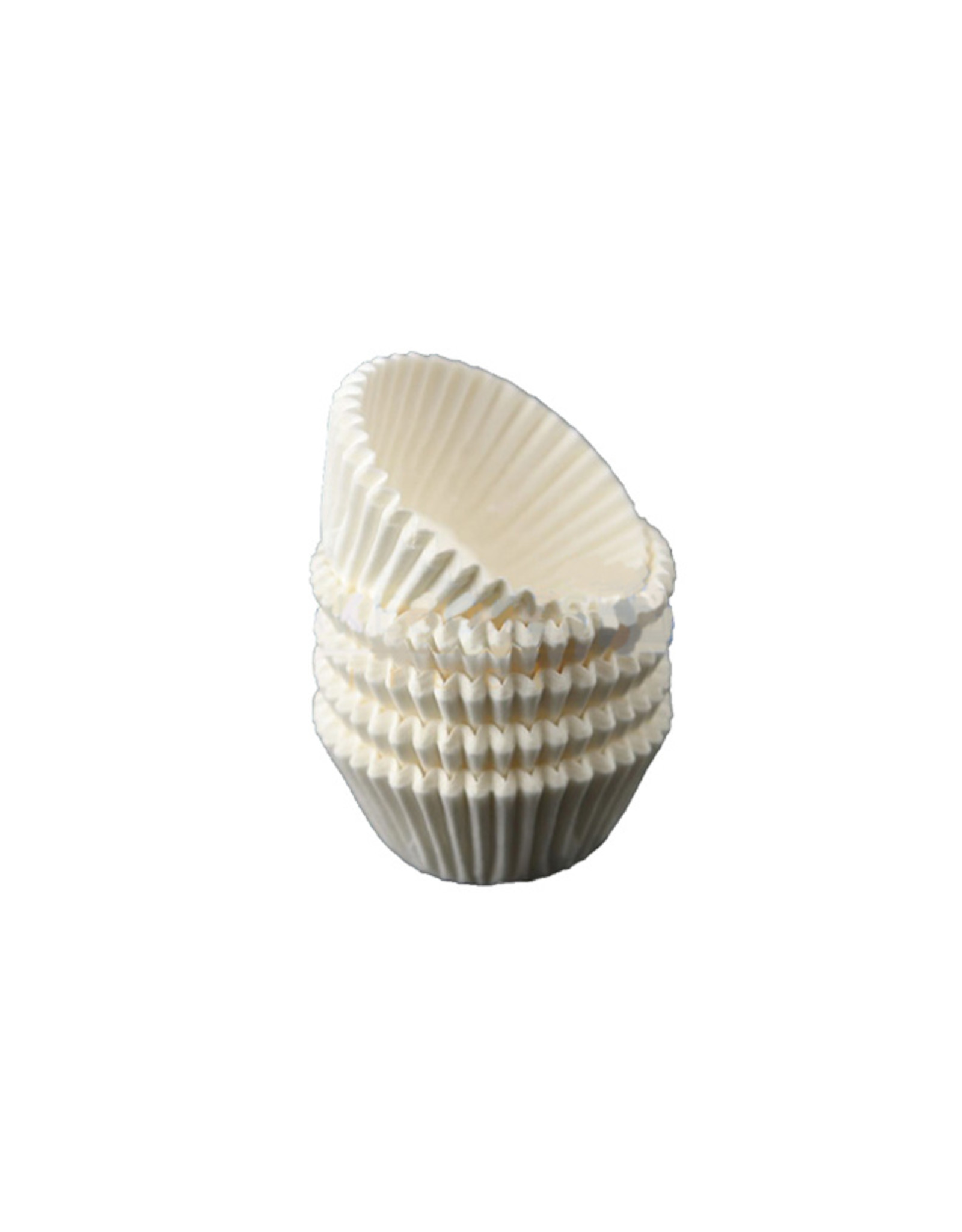 White mini baking cups (per 500 pieces)