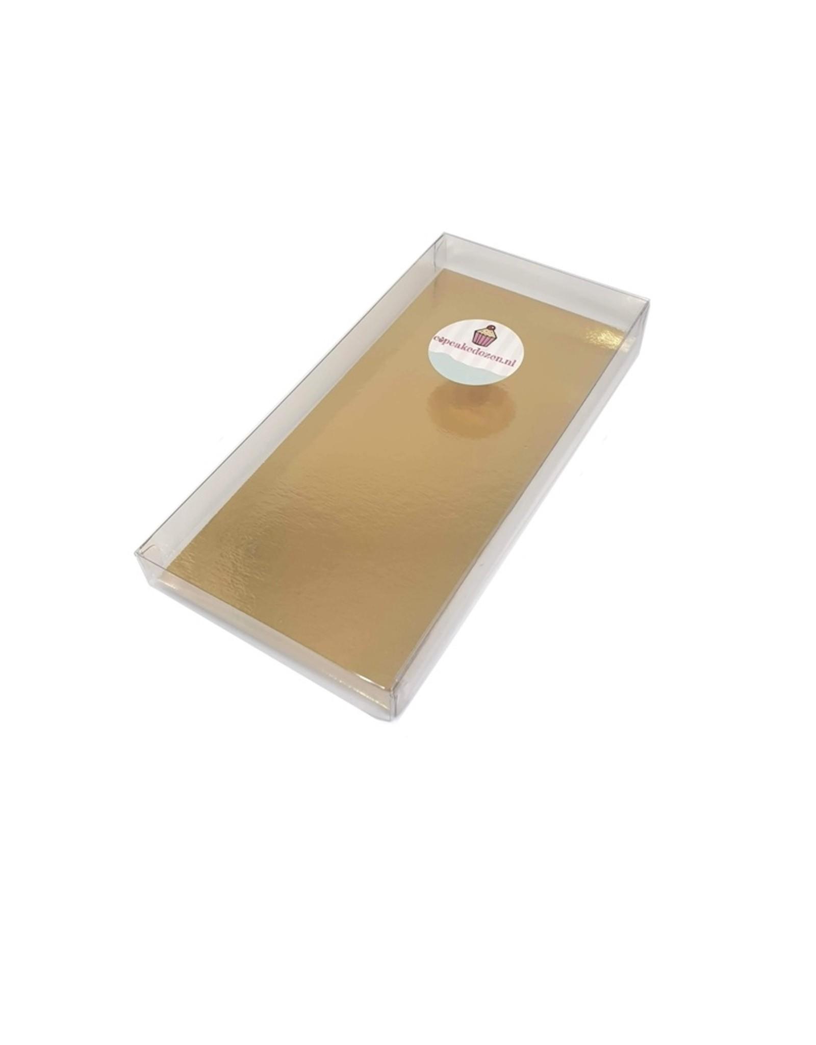 Transparante doos rechthoek laag - diverse maten (per 100 stuks)