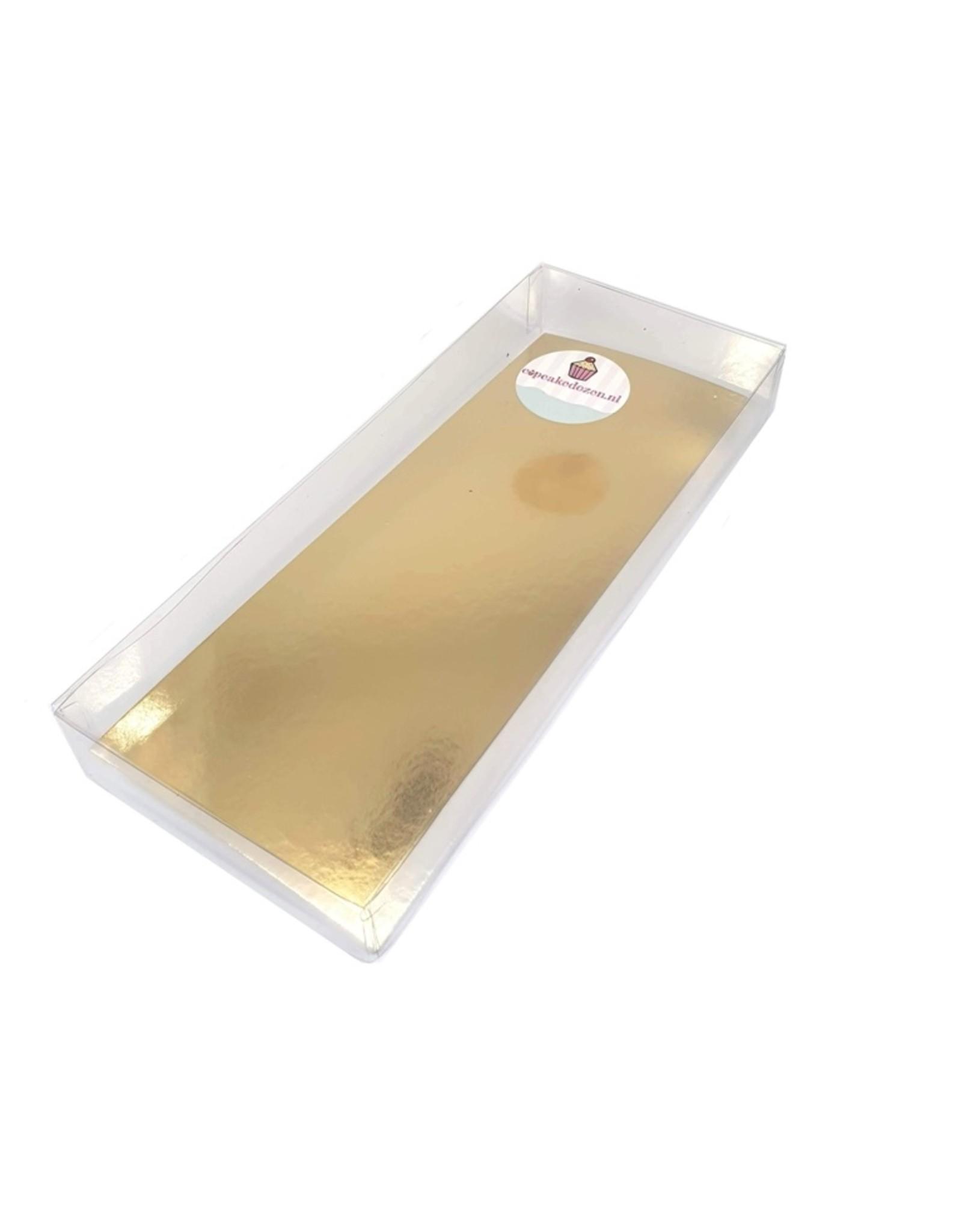 Transparant box rectangle - multiple sizes (per 100 pieces)