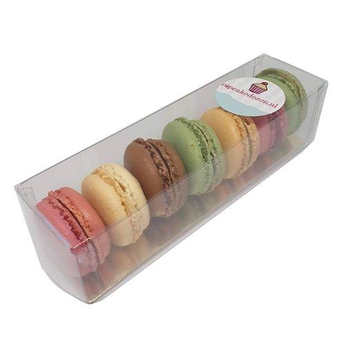 Transparante dozen voor macarons in diverse maten (per 100 stuks)