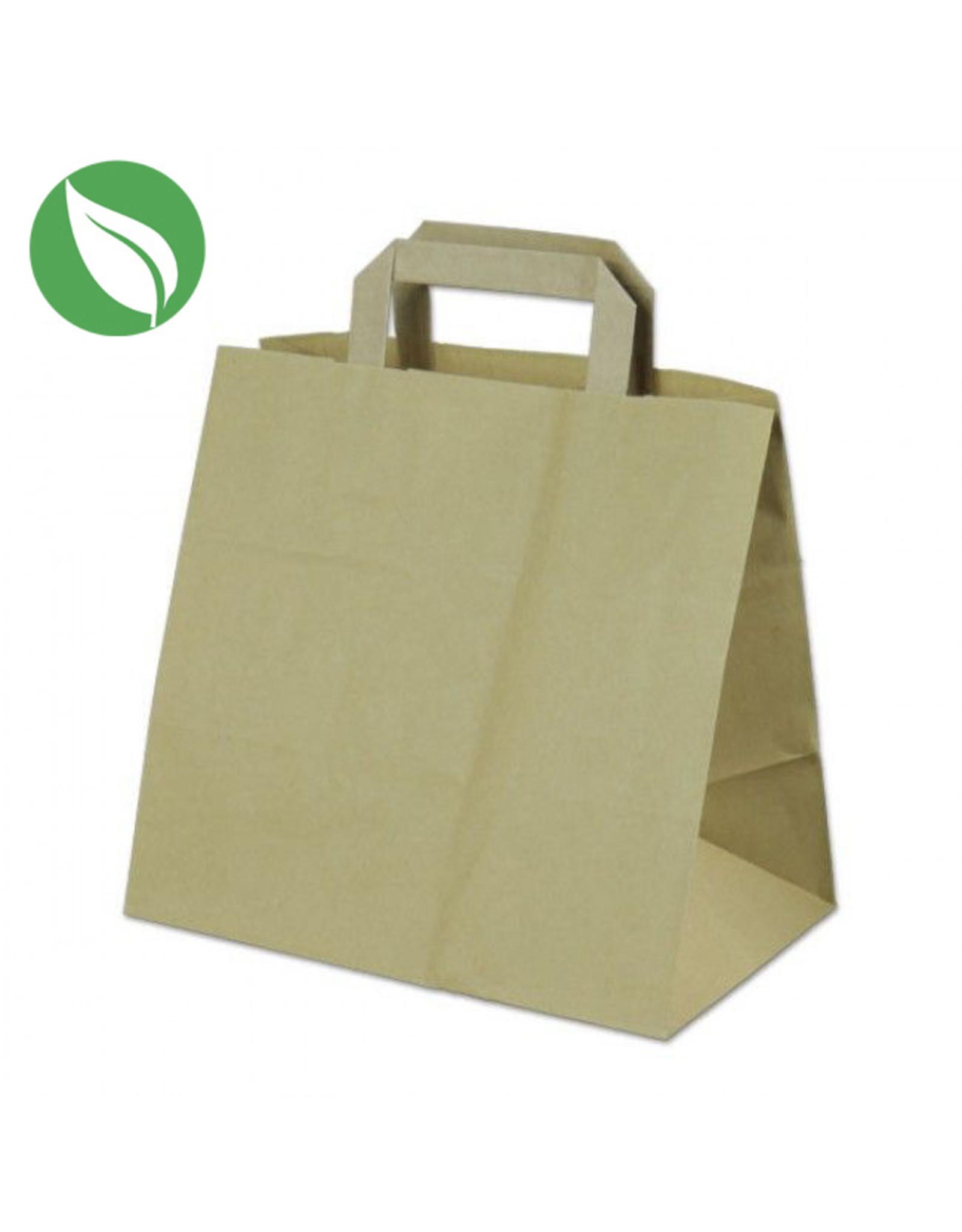 Kraft tas voor dozen van 6 cupcakes - biologisch (per 400 stuks)