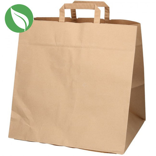 Kraft 12 cupcake paper carrier bag - sustainable (per 125 pieces)