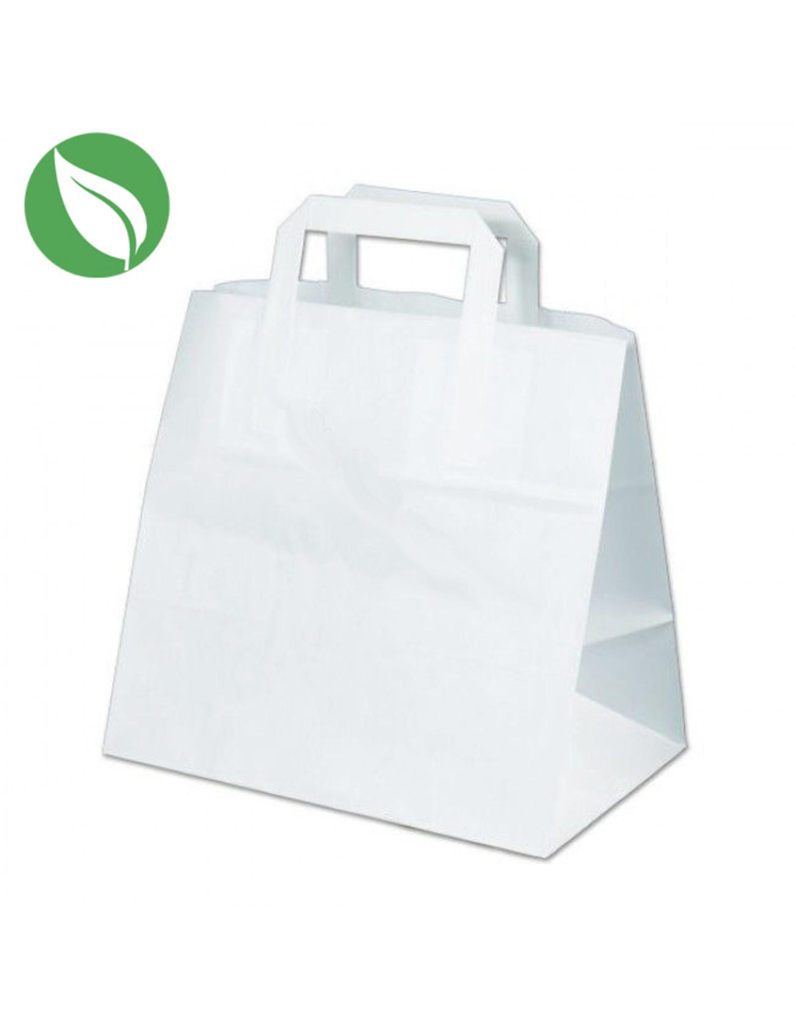 Witte tas voor dozen van 6 cupcakes (per 300 stuks)