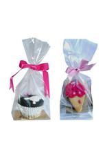 Zakje met gouden bodem voor cupcakes & cookies (per 250 stuks)