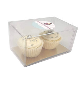 Clear box for 2 mini cupcakes (100 pcs.)