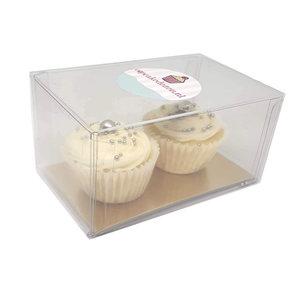 Clear box for 2 mini cupcakes (100 pcs.)