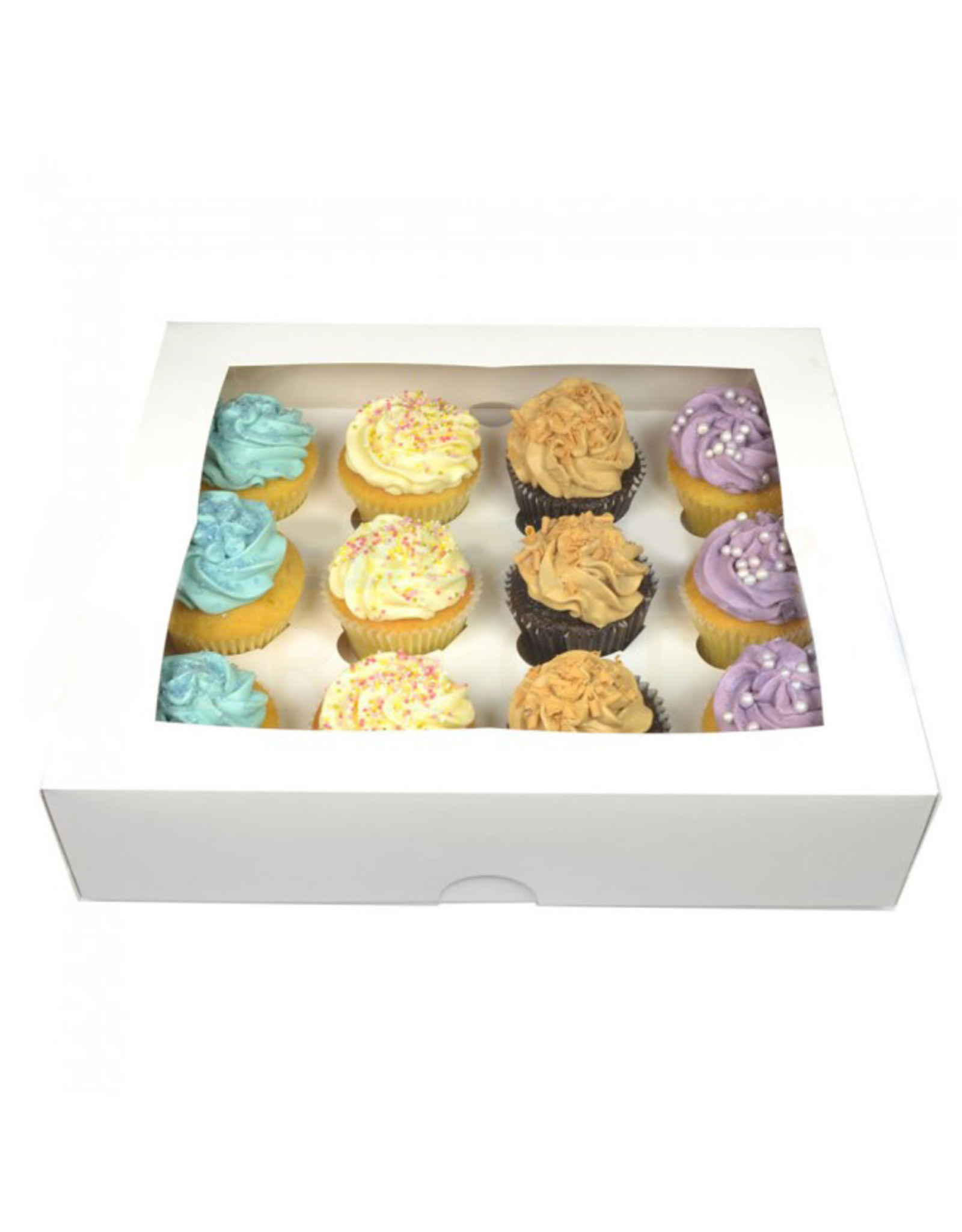White box for 12 cupcakes (per 25 pieces)