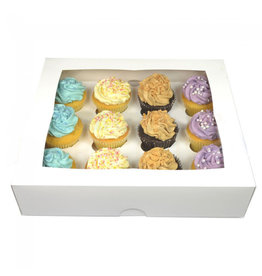White box for 12 cupcakes (25 pcs.)