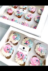 Witte doos voor 12 cupcakes (per 25 stuks)