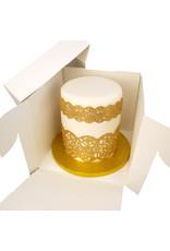 Hoge taartdoos - 22,8 x 22,8 x 20,3 cm (per 50 stuks)
