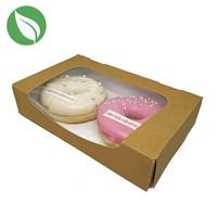 Biodegradable kraft box for 2 donuts or brownies (400 pcs.)