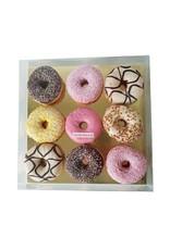 Transparante sweets box - 29,5 x 29,5 x 4,5-6 cm (per 50 stuks)