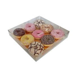 Transparante sweets box - 29,5x29,5x4,5 (50 st.)