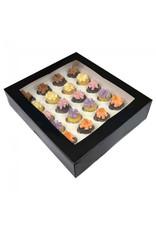 Black box for 24 mini cupcakes (per 25 pieces)