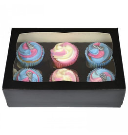 Black box for 6 cupcakes (25 pcs.)
