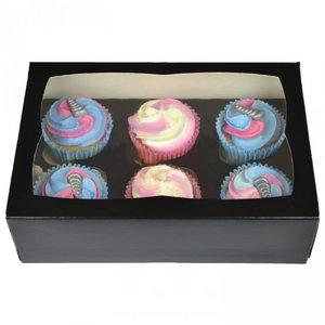 Black box for 6 cupcakes (25 pcs.)