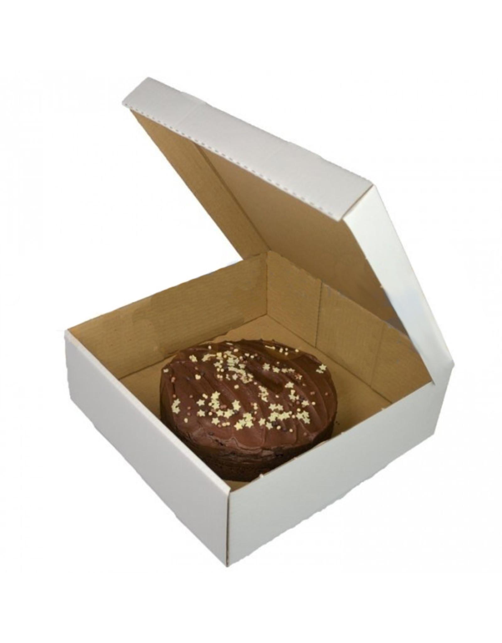 White corrugated cake box - 27x27x10 (per 50 pieces)