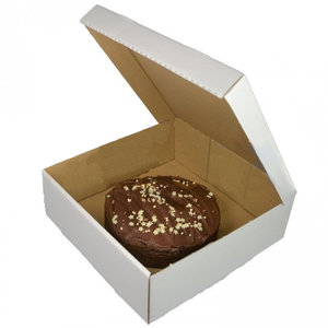 Corrugated cake box - 27x27x10 (50 pcs.)
