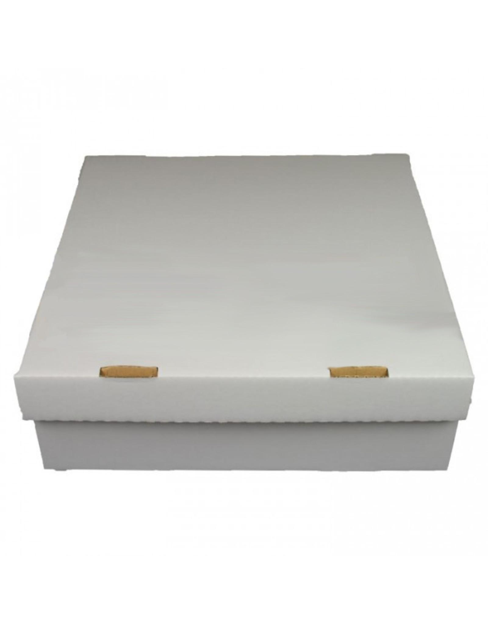 Witte taartdoos golfkarton - 27x27x10 (per 50 stuks)