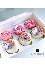 Witte hoge doos voor 6 cupcakes (25 stuks)