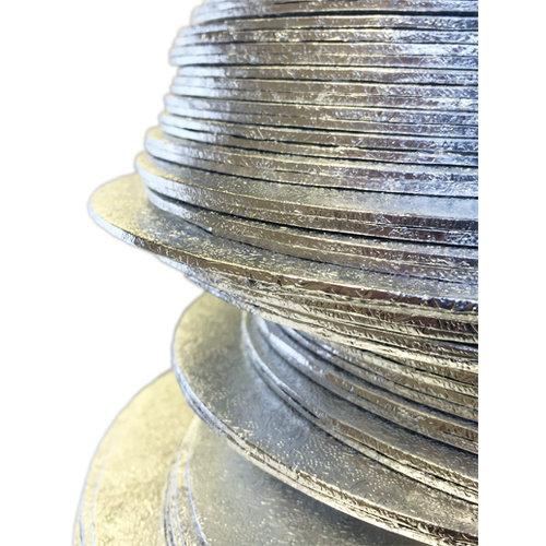 Cakeboards Ø203 mm - zilver (per 10 stuks)