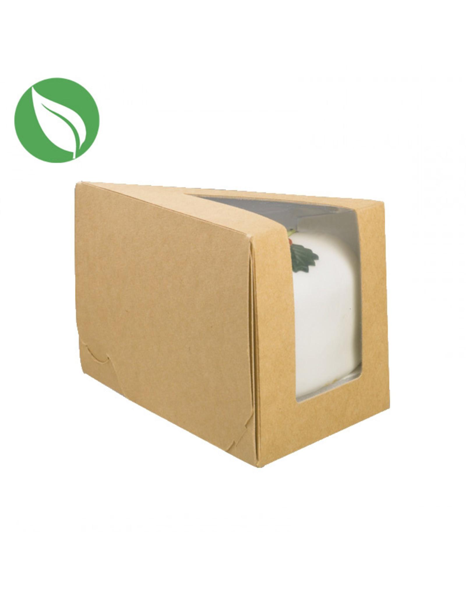 Kraft doos voor 1 taartpunt (per 50 stuks)