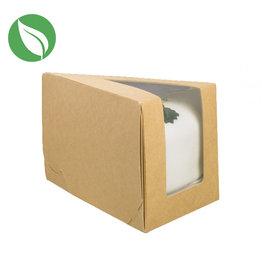Kraft doos voor 1 taartpunt (25 st.)