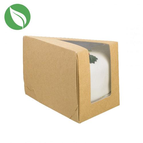 Kraft doos voor 1 taartpunt (50 st.)