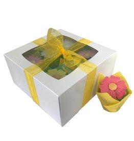 Witte doos voor 6 minicupcakes (25 st.)