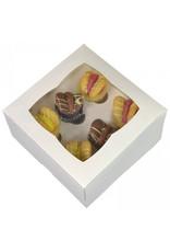 White box for 6 mini cupcakes (25 pieces)