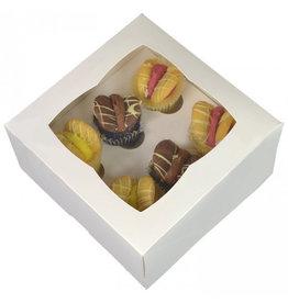 White box for 6 mini cupcakes (25 pcs.)