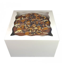 Witte taartdoos met venster - 20x20x12 (25 st.)