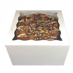 White window cake box - 20x20x12 (25 pcs.)