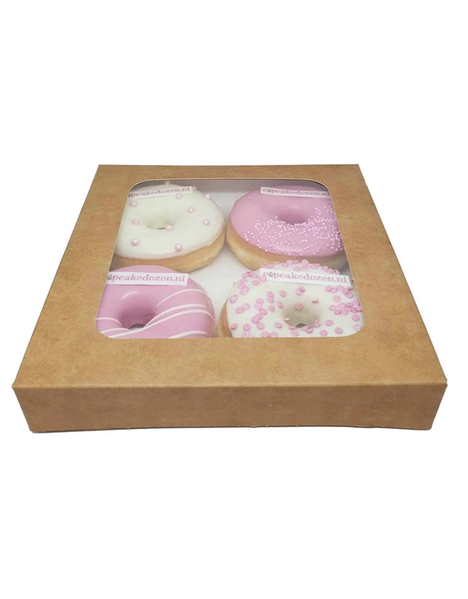 Kraft box for 4 donuts (per 25 pieces)