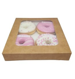 Kraft box for 4 donuts (25 pcs.)