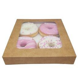 Kraft doos voor 4 donuts (200 st.)