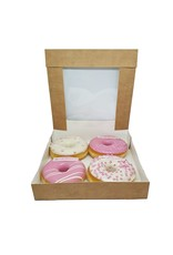 Kraft box for 4 donuts (per 200 pieces)
