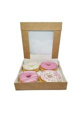 Kraft doos voor 4 donuts (per 200 stuks)