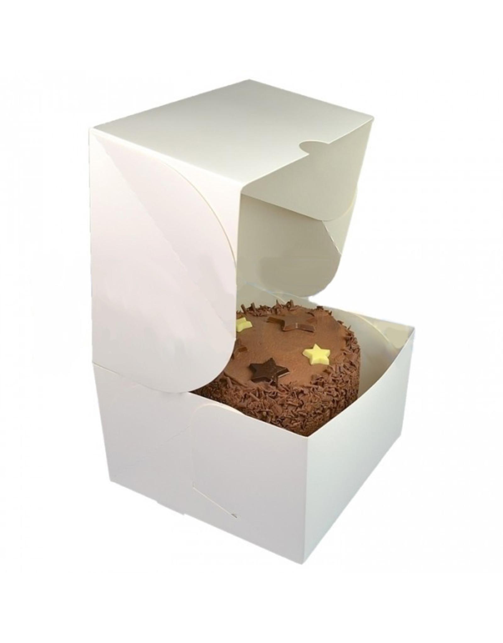 White window cake box - 25x25x15 (per 25 pieces)