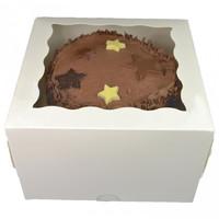White window cake box - 25x25x15 (25 pcs.)