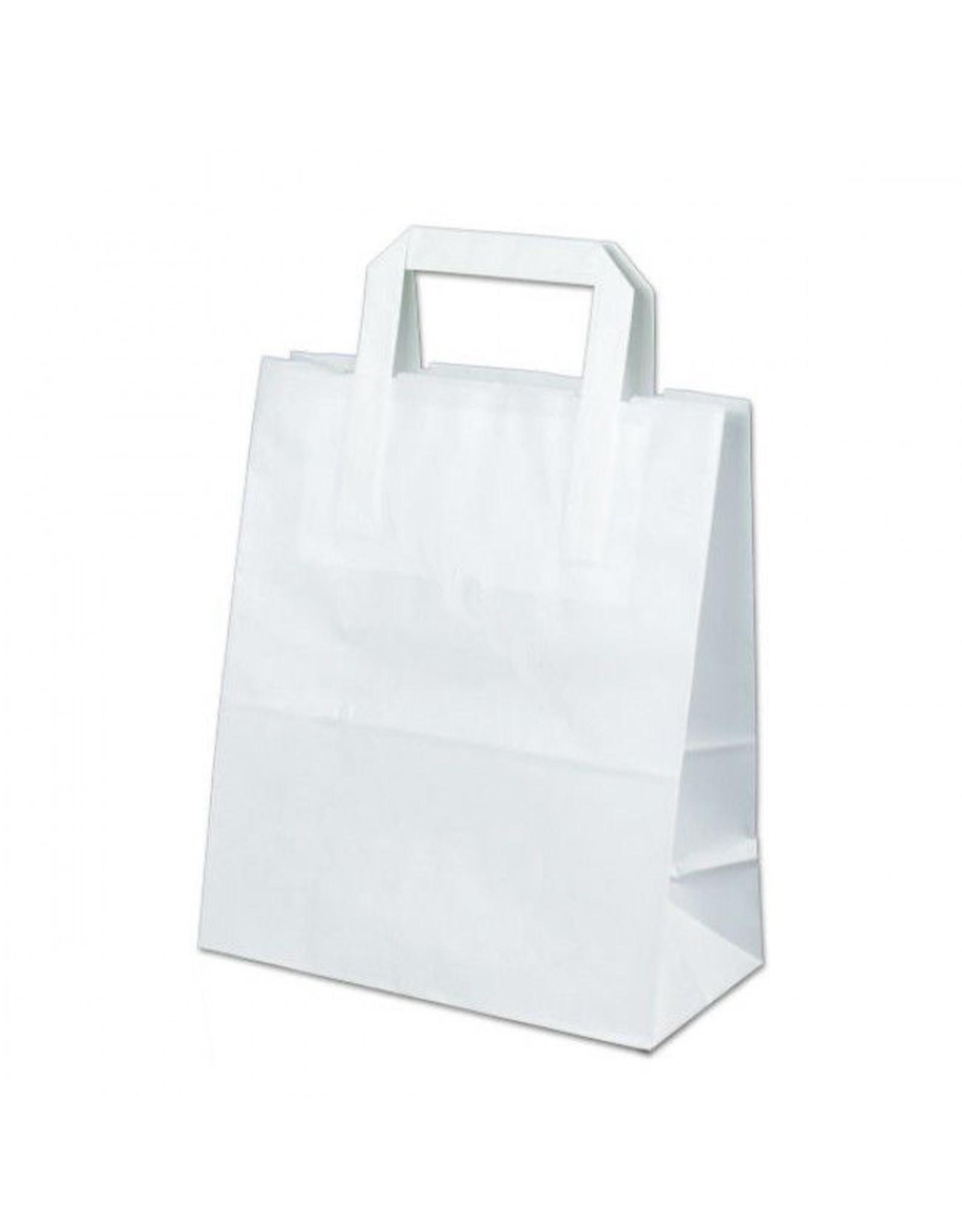 Witte tas voor dozen van 2 cupcakes (100 stuks)