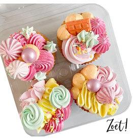 Transparante doos voor 4 cupcakes (250 st.)