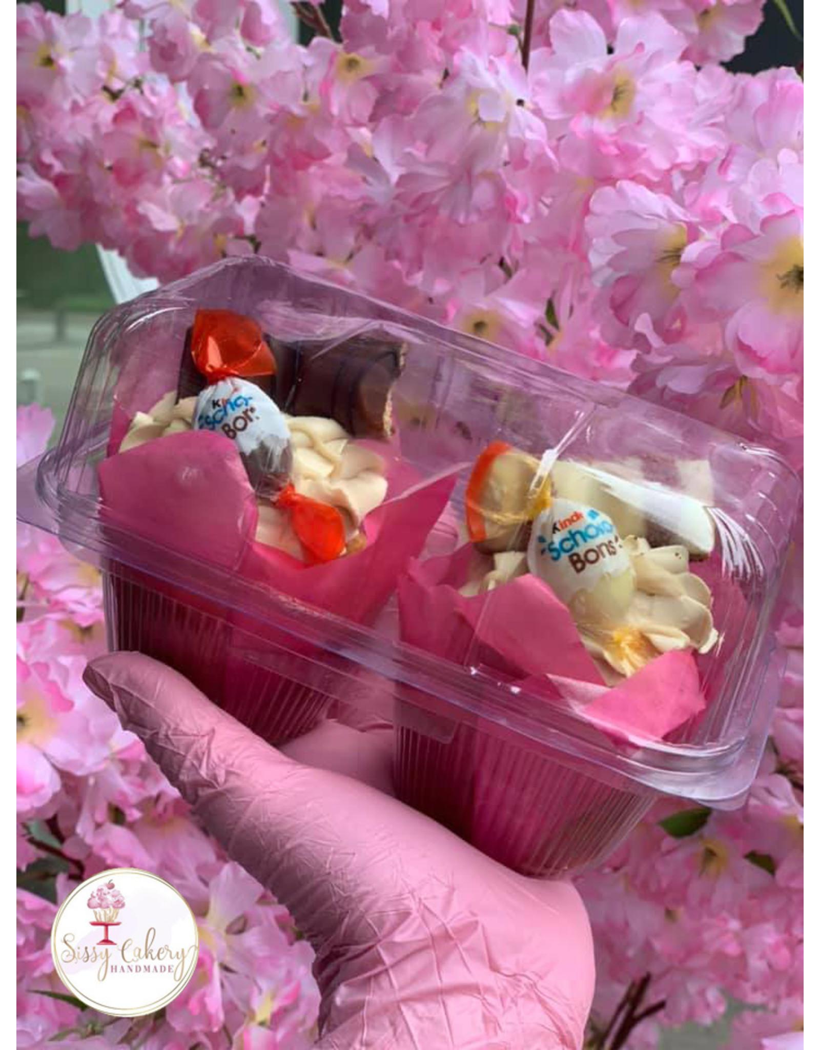Transparante doos voor 2 cupcakes (per 228 stuks)