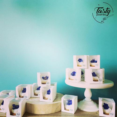 Doos voor 1 cupcake met extra groot venster(per 50 stuks)