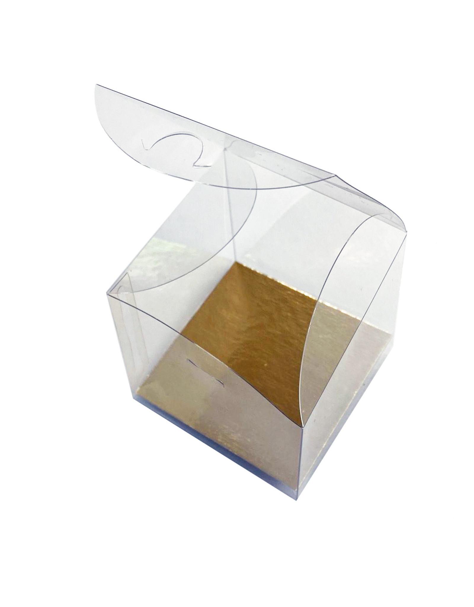 Transparent cube for 1 cupcake (per 100 pieces)