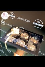 Zwarte doos voor 6 cupcakes (25 stuks)